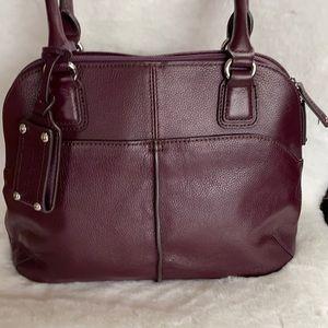 Tignanello Pebble Leather Shoulder Bag VGUC